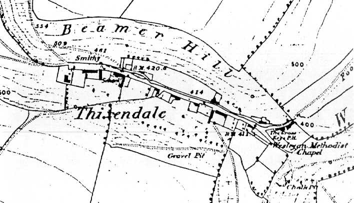 Map of Thixendale, 1851